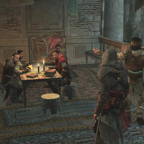 Yusuf stelt Ezio voor aan de <a href=