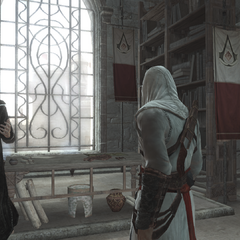 Al Mualim praat met zijn leerling.
