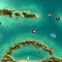 天蠍礁的俯視圖