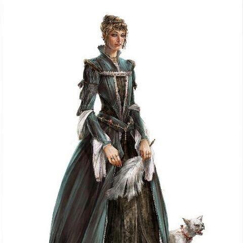Vroege concept art van Caterina.