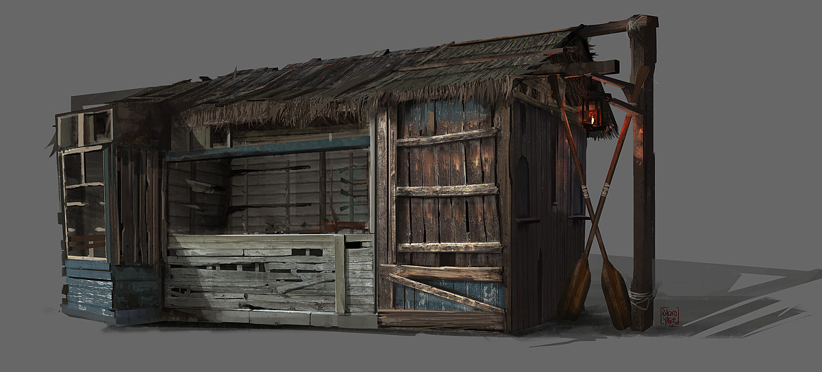 Image - AC3L Swamp Shop - Concept Art.jpg | Assassin's Creed Wiki ...