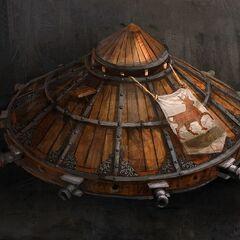 Concept art van de tank