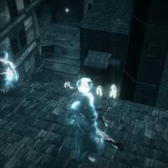 Ezio gebruikt zijn <a href=