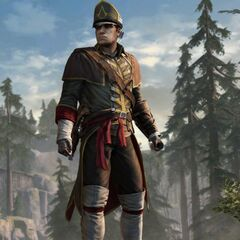Alpha-stage render of the Colonial Assassin outfit in-game