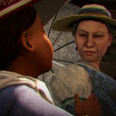 Aveline ziet een andere vrouw aan voor haar moeder