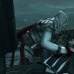 Ezio scheld Vieri uit.