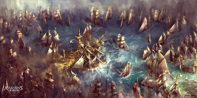 File:Assassin's Creed IV Black Flag Battle at sea by max qin.jpg