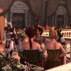Ezio ontmoet zijn moeder en zus
