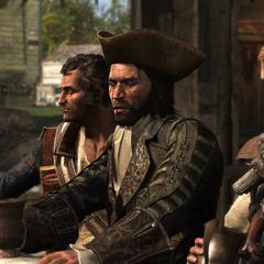 霍尼戈尔德、萨奇和肯威在老艾利酒馆