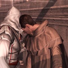 Ezio koopt een heraut om.