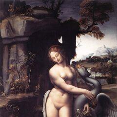 <b>莉妲和天鹅</b><br />(Leda and the Swan)<br /> 达芬奇