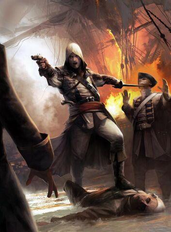File:Edward Kenway in Battle - Concept Art.jpg