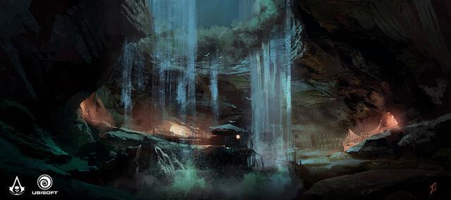 File:AC4 Smuggler Camp at Night - Concept Art.jpg