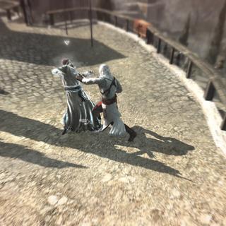 Altaïr vecht met Masun.