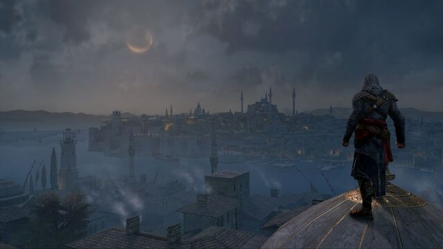 File:Ezio overlooking the Golden Horn at night.jpg