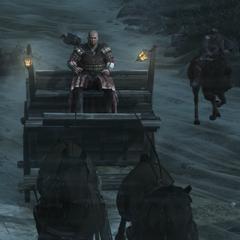 Leandros probeert aan Ezio te ontsnappen