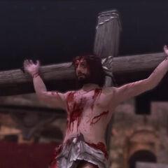 Pietro als Jezus Christus.