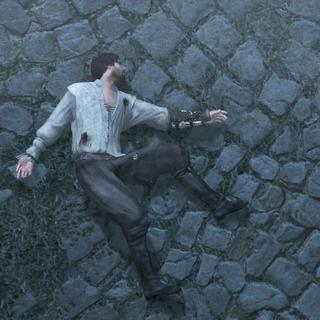 Ezio zakt in elkaar van uitputting