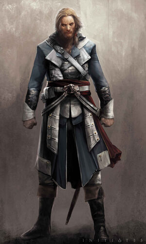 """Edward w <a href=""""/wiki/Assassin%27s_Creed:_Initiates?action=edit&redlink=1"""" class=""""new"""" title=""""Assassin's Creed: Initiates (strona nie istnieje)"""">Assassin's Creed: Initiates</a>"""