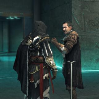 Ezio en Mario in de kerker