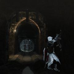 Ezio opent de poort naar het droogdok.