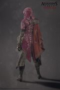 ACS Evie Frye Nightshade Cloak Model - Back View
