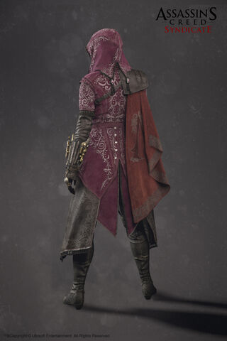 File:ACS Evie Frye Nightshade Cloak Model - Back View.jpg
