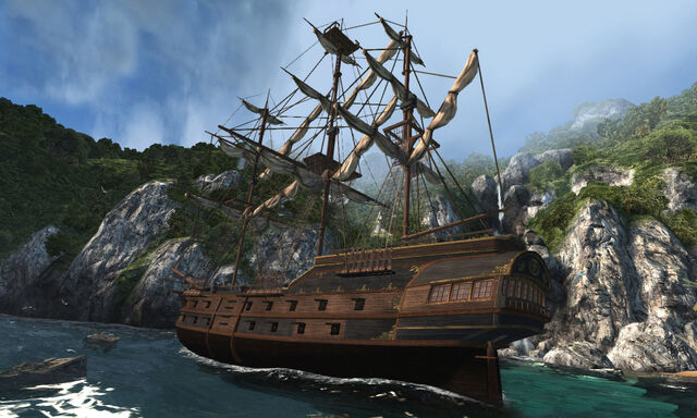 File:ASSASSINS CREED III - Decoy Ship Welcome by greyson.jpg