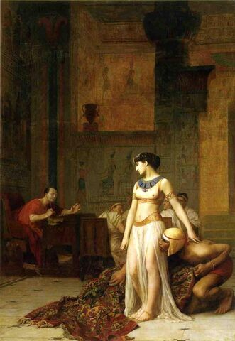 File:Cleopatra and Caesar by Jean-Leon-Gerome.jpg