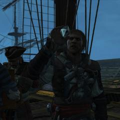 爱德华看着一只从葡萄牙舰队获得血瓶