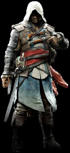 "Edward w <a href=""/wiki/Assassin%27s_Creed_IV:_Black_Flag"" title=""Assassin's Creed IV: Black Flag"">Assassin's Creed IV: Black Flag</a>"