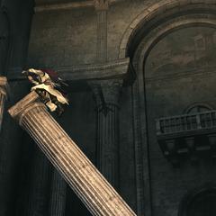 Ezio verkent de hoofdzaal