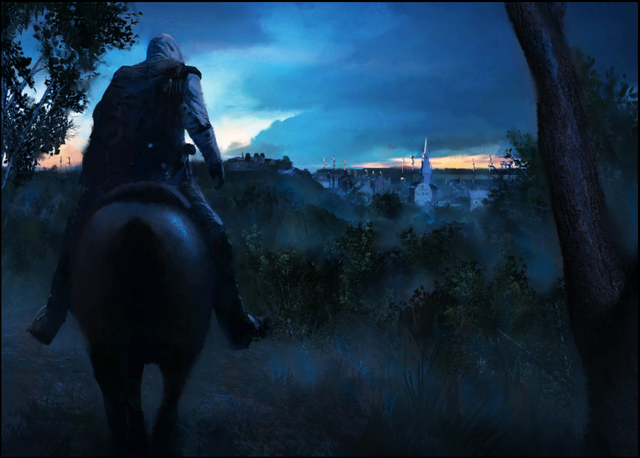 File:Concept art of Connor entering Boston by Gilles Beloeil.png
