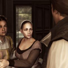 Annetta waarschuwt Ezio.