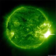 Simulated solar flare activity