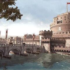 Het centrum van Borgia's controle, het Castel Sant'Angelo.