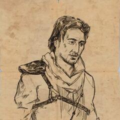 伊薇手绘的亨利画像