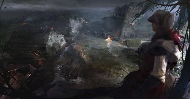 File:AC3L Chichen Itza Settlement - Concept Art.jpg