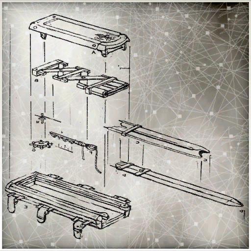 袖剑的各部分结构分解图
