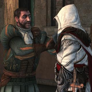 Bartolomeo groet Ezio