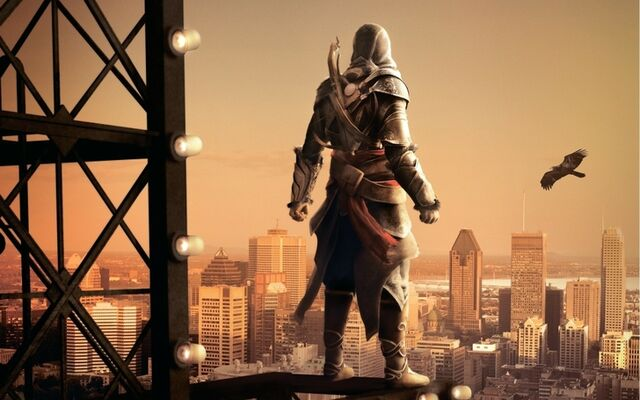 File:Assassins creed eagles robes artwork hoodie crossbows ezio auditore cities game 1920x1200 wallpap www.wallpaperfo.com 15.jpg