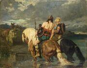Evariste-Vital Luminais - Goths traversant une rivière
