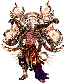 Asura's Wrath Halos Six-Armed Vajra Asura
