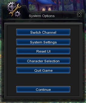 Systemoptions