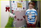 Calum Worthy Christmas Door