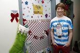 Calum Christmas Door