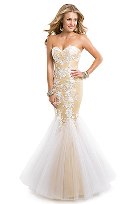 Image - Tulle with white lace long prom dress.png | Austin & Ally ...