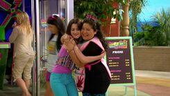 Ally & Trish hug; Backups & Break-Ups