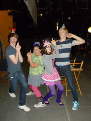 Laura, Calum, Ross, Raini