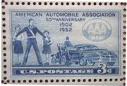 Stamp US AAA 50th Anniversary 3-cent